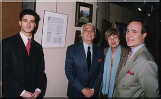 With Yvonne Dionisio [President of the Salon], Jean Tiberi [Mayor] and Alain Briscadieu-Farjas